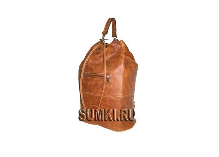 Кожаная Сумка-рюкзак арт.