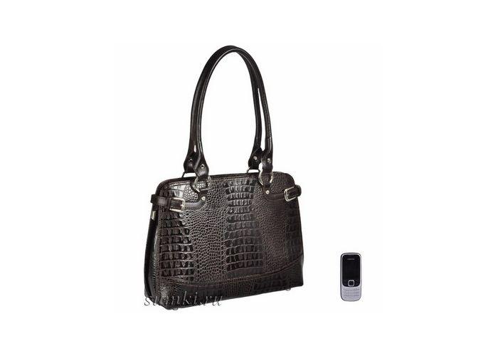 Деловая сумка из натуральной кожи для современных бизнес-леди.  Стильный строгий дизайн, отсутствие лишних деталей